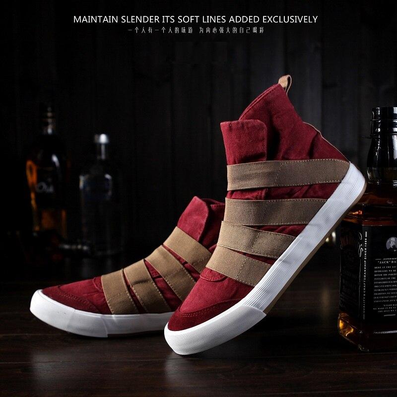 Nueva Tendencia de Los Hombres Zapatos de Lona de Los Hombres Zapatos Casuales