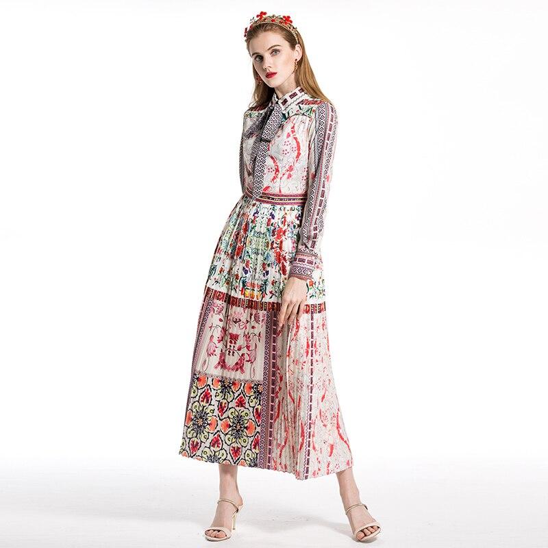 170cbea5cd98 Xxxl Popolare Più Modo Chic Pieghettato Il Vestiti Dolce Prairie Fiore  Vestito Pista 2018 Squisito ...