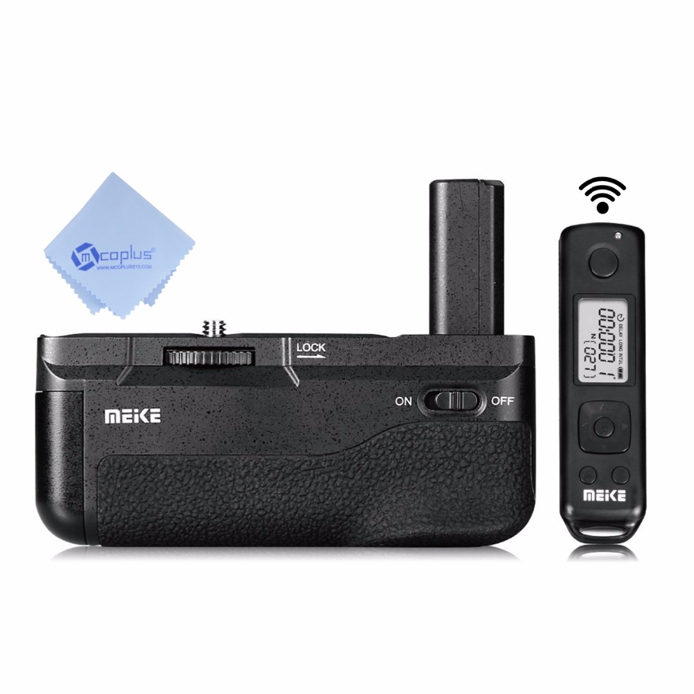 Meike The New MK-A6500 pro Battery Grip Built-in 2.4GHZ Remote Controller Vertical-shooting Function for Sony a6500 camera +Mcop sony a6500