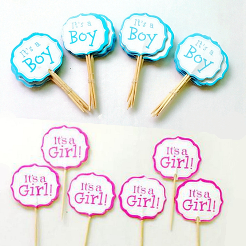 24pcs It s a Girl Letter Cupcake Toppers Pick Party Supplies font b baby b font