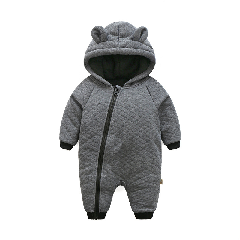 Baby Boy Clothes Newbon Quality  Cotton Hooded Rompers Cartoon Totoro Thick Warm Infant Jumpsuit Winter Baby Clothes Outfits autumn winter baby clothes cartoon cotton thick warm infant jumpsuit clothing baby boys girls rompers overalls good quality