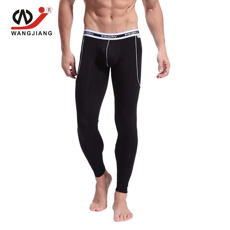 WJ Compression Men Pants Joggers Sweatpants Track Pants Pantalon Homme Bamboo Fiber Men Sexy Compression Pants Leggings Men