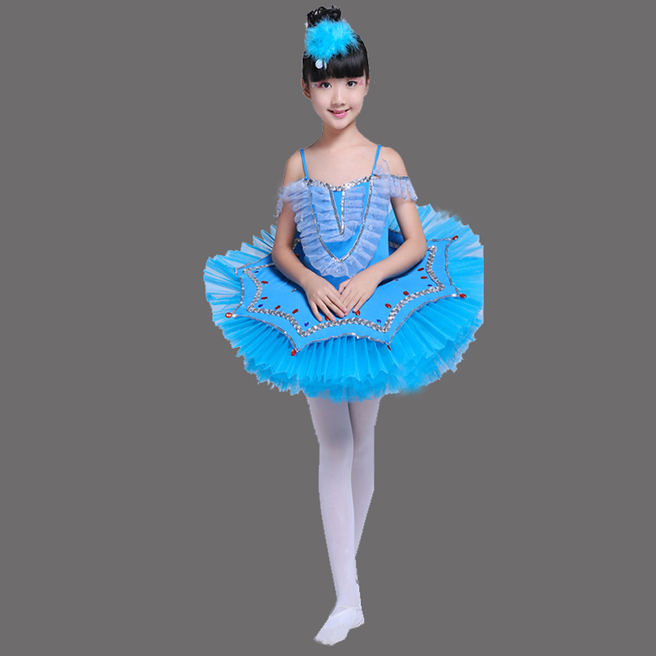2017 Songyuexia Girls Gymnastic Leotard Ballet Dancing Dress White Swan Lake Costume Ballerina Dress Kids Ballet Dress Children
