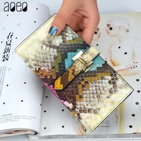 AOEO Women Wallets Long Split Leather Wallet Female Zipper Clutch Coin Purse Car Holder Ladies Fashion