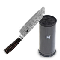 High Quality Acrylic Pp Knife Holder Kitchen Knives 7 Inch Santoku Knife XYJ Brand Stainless Steel