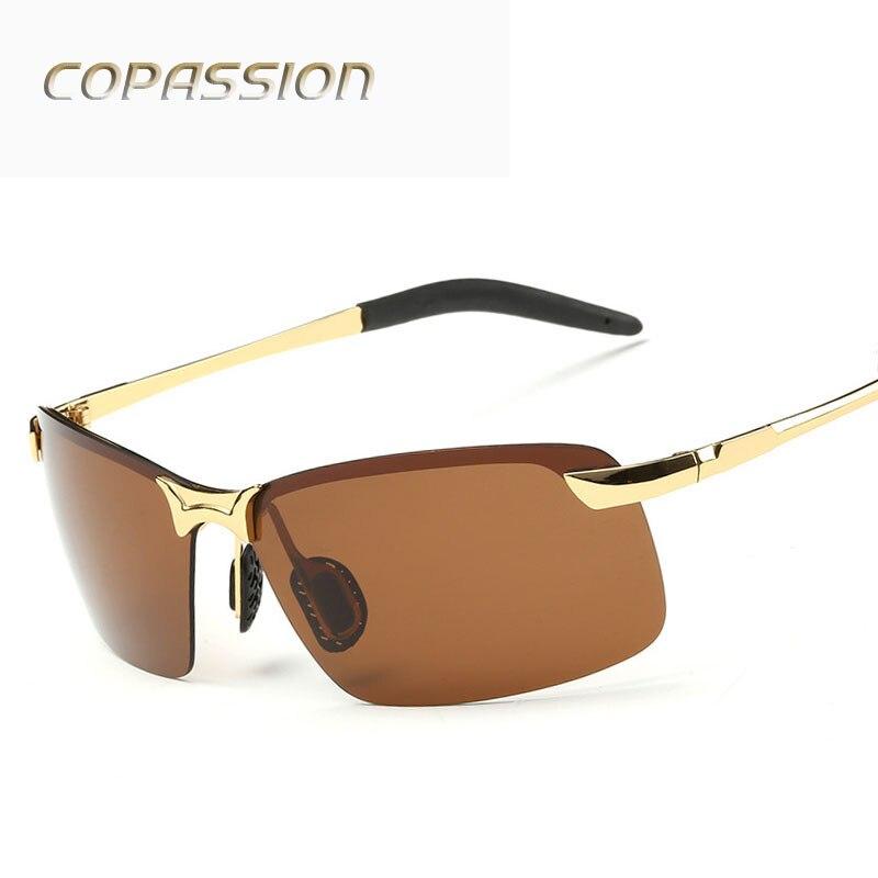 2017 Brand Polarized Sunglasses Men women Rimless design Sport Sun Glasses Driving Goggle UV400 Eyewear oculos de sol masculino