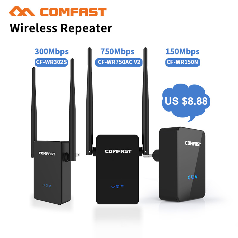 Mini Wifi Router 150Mbps-750Mbps Wireless-N Network Wi Fi Repeater Long Range Expander Signal Amplifier Booster 2*5dBi Antenna vonets vap11n mini 150mbps wireless network router%2