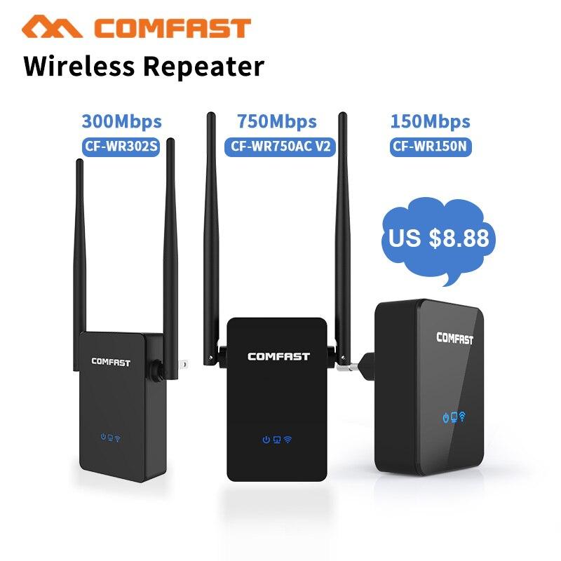 Mini Wifi Routeur 150Mbps-750Mbps Sans Fil-N Réseau Wi Fi Répéteur Long Range Expander Signal Amplificateur Booster 2 * 5dBi antenne