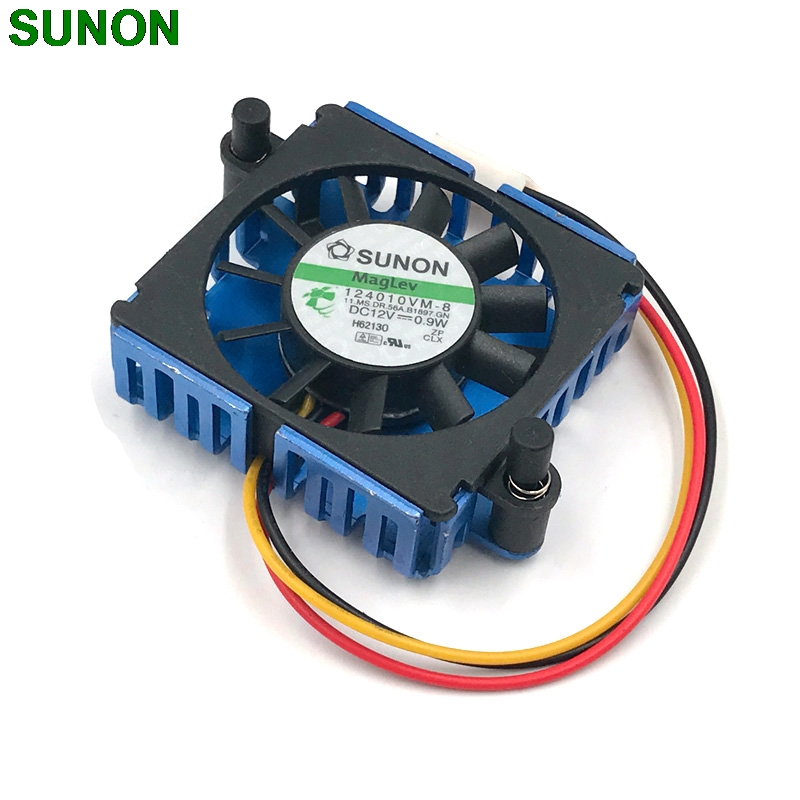SUNON 124010VM-8 DC12V 0.9W Graphics Video Card Cooler cooling Fan For radware AD2016 2pcs lot pld08010s12hh 75mm dc 12v 0 35a 4pin dual cooler fan as replacement for msi twin frozr iii graphics video card