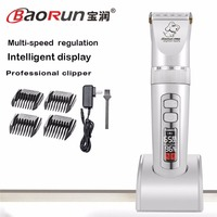110V 240V BaoRun P9 Pet Cat Dog Trimmer 2000mAh Electric Rechargeable Grooming Clipper Remover Cutter Shaver Animal Haircut Tool