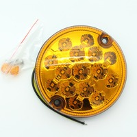 1PCS 9 33v Auto LED Round Amber Turning Lights 95MM Tail Indicatting Lights Car Covers Lamp