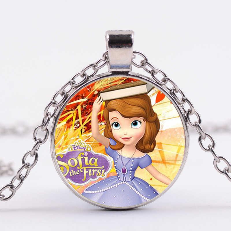 SIAN/ожерелье принцессы Софии для маленьких девочек, детские четыре цвета, длинная цепочка, Хрустальное стекло, фото, кулон из кабошона вечерние платья, ювелирные изделия
