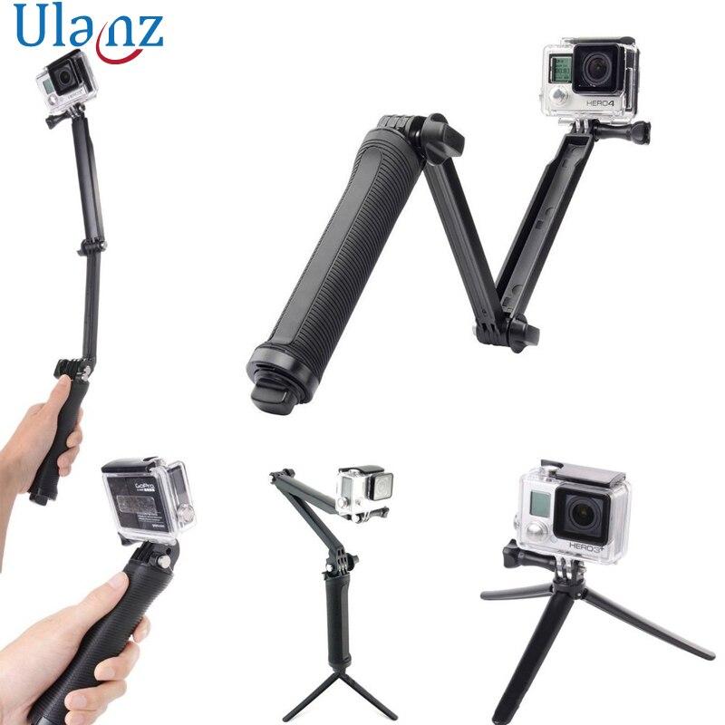 3 Way Waterproof Monopod Selfie Grip Tripod Mount For Gopro Hero 5 4 Session SJ4000 Xiaomi iPhone Yi 4K Camera acessorios Gopro