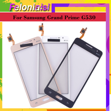 10Pcs/lot G530 G531 TouchScreen For Samsung Galaxy Grand Prime G531H G531F G530H G530F G5308 Touch Screen Digitizer Panel Sensor new gold oem replace touch screen with digitizer lcd display for samsung galaxy grand prime g531 sm g531 g531f g531h phone