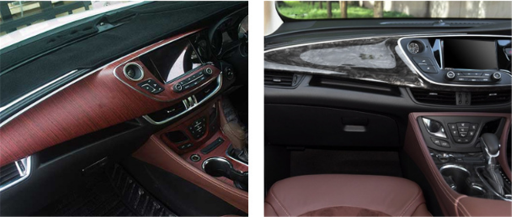 Image 3 - Car interior film wood grain paper color bright surface console for Toyota VIOS LAND CRUISER PRADO COASTER highlander-in Car Stickers from Automobiles & Motorcycles