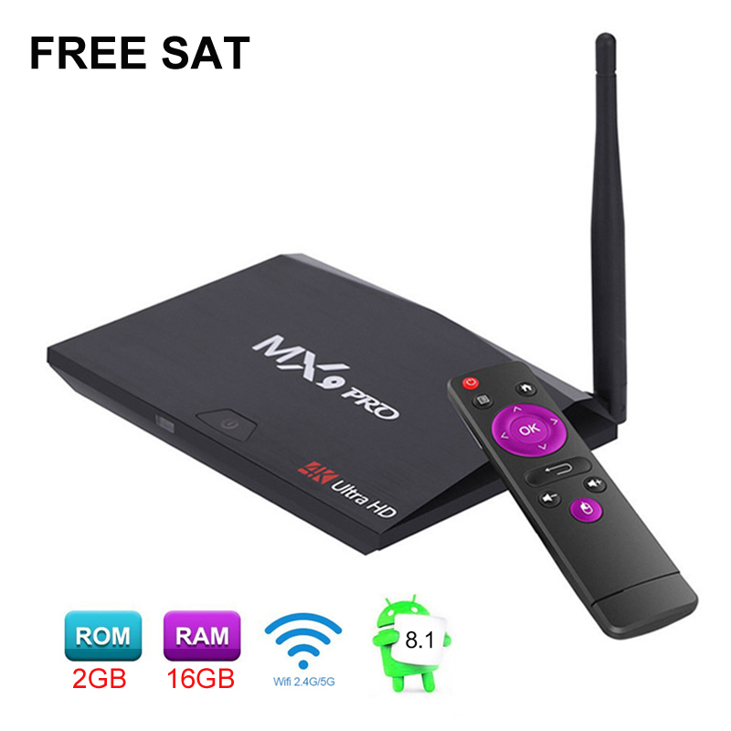 Free Sat MX9 Pro Android 7.1 TV Box 4K RK3328 Quad Core 2GB 16GB 2.4G WiFi Smart IPTV Set Top Box Media Player PK X96 Mini 2018 lastest himedia h8 pro 2gb 16gb octa core uhd smart android tv box wifi 3d 4k media player pk mi box 3 x96 mini h96 pro x92