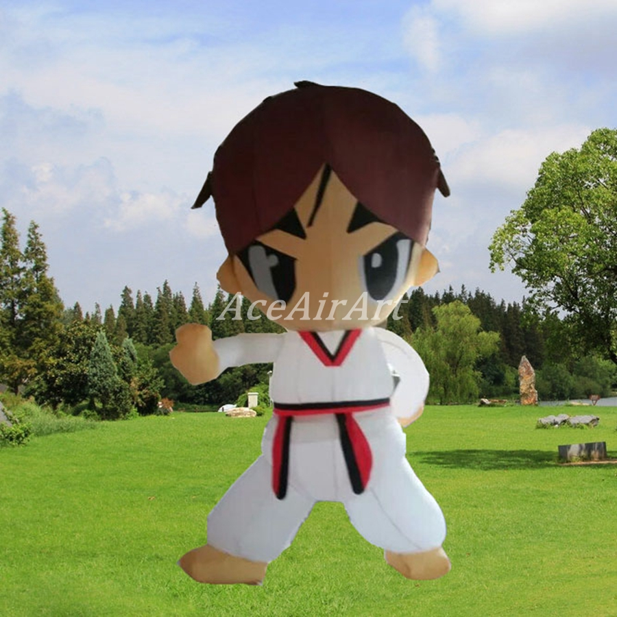 Тхэквондо мультфильм надувной Wu н гуаньцзянь тела Санда Боевые искусства