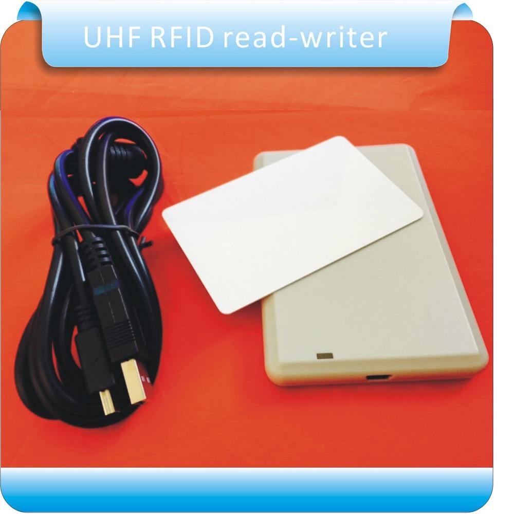 Usb rfid UHF desktop reader writer provide English SDK demo software with free sample testing cards rfid uhf card reader writer provide sdk and demo software to facilitate further development