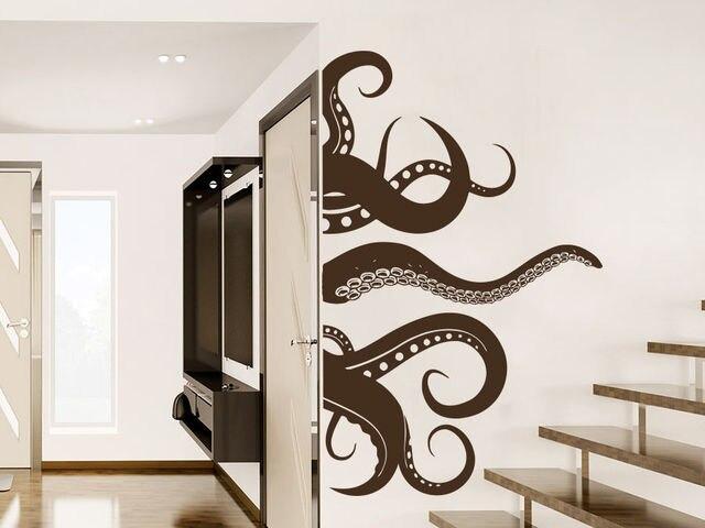 Sale Creative Octopus Wall Decal Tentacles Fish Deep Sea Ocean Animals  Nautical Decor Art Mural Home
