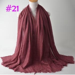 Image 3 - Crinkle Plain Wrinkle Wrap,bubble cotton muslim hijab,Soft Islam scarf,Viscose Maxi crinkle scarves,solid scarf,Head Hijab shawl