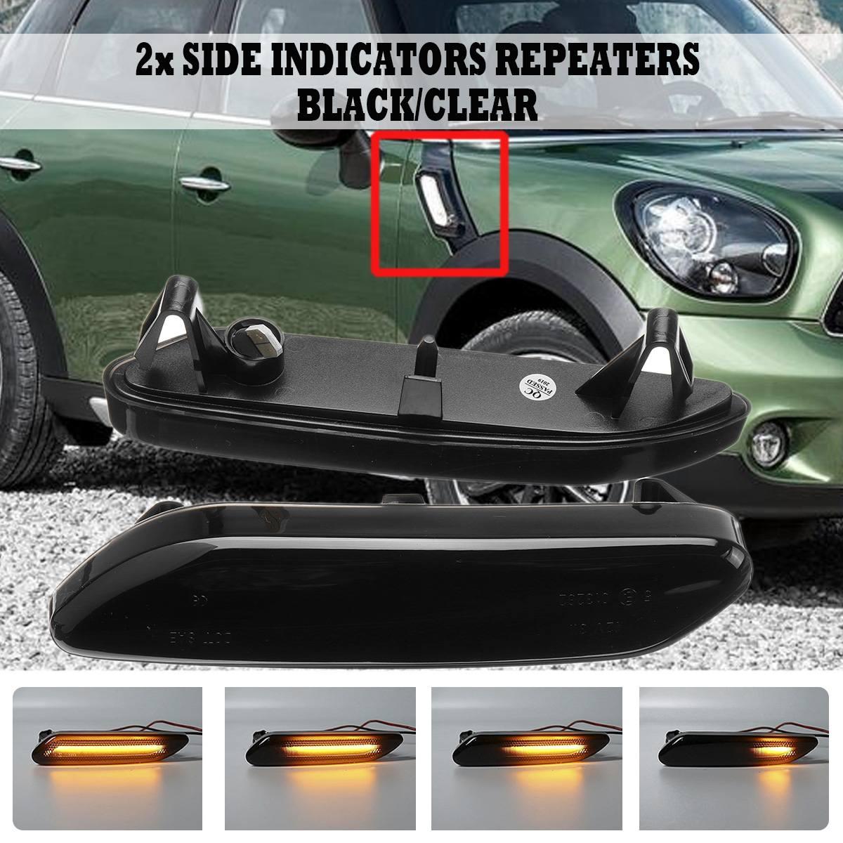 Par de Fluxo Transformar a Luz do Sinal Dinâmico 12v Repetidor Lateral Lâmpada LED Lado Marcador de Luz Da Lâmpada Do Painel Para BMW Para mini Cooper R60 R61