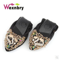 plus 42 New Women Crystal Ballet Folding Shoes 2016 Casual Rhinestone Soft  Driving Flats Dancing Egg 8cac4d5137f3