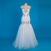 2017 Real Photo Wedding Dresses Bodice Vintage Sweetheart Bling with Tulle Beaded Crystal Bridal Gowns