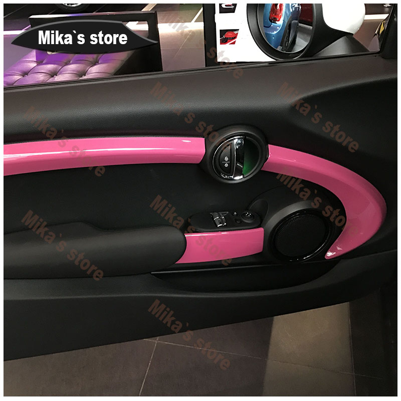Haute qualité offre spéciale Style matériel PC protégé porte Kit accessoire adapté pour mini cooper F56 voiture-Style avec 3 couleurs (6 PS) - 4