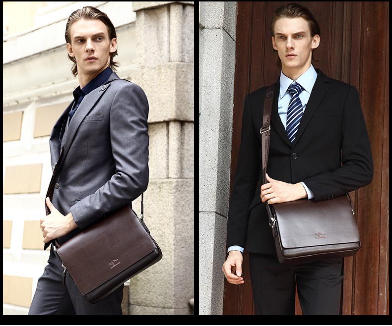 New Arrived luxury Brand men's messenger bag Vintage leather shoulder bag Handsome crossbody bag handbags Free Shipping 23