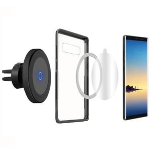 Image 3 - Cargador de coche inalámbrico de carga rápida QI, soporte magnético para teléfono de coche, 10W