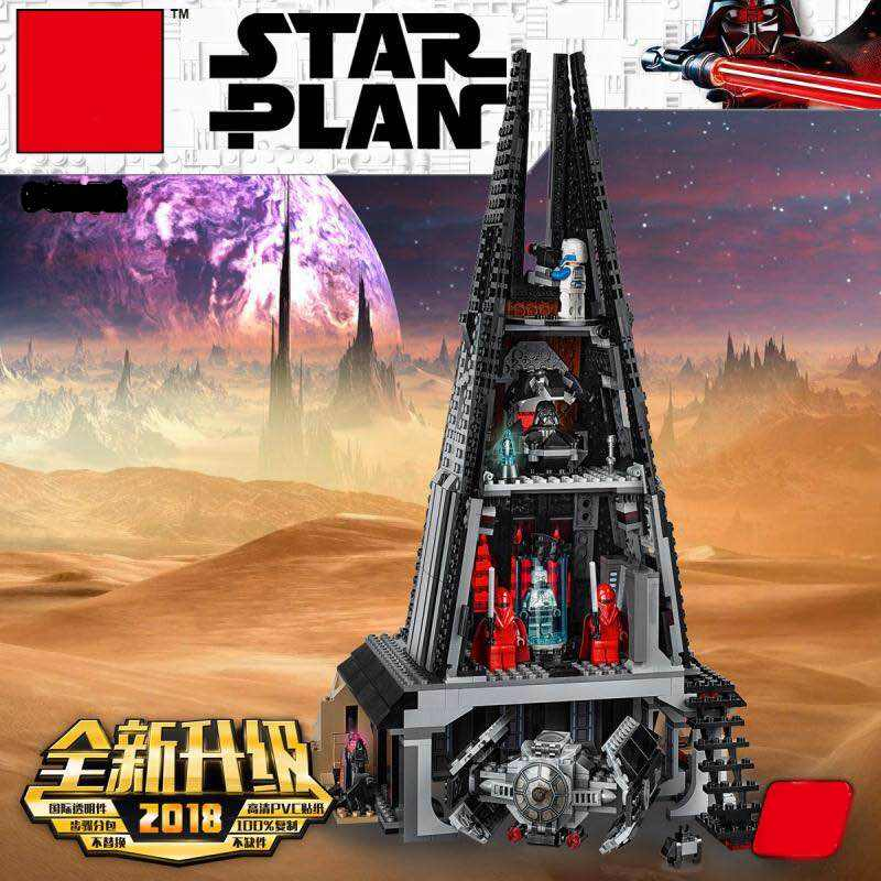 2019 Star War Darth Vader's Castle Set Model Building Blocks Bricks DIY Toys for Children Gifts Legoinglys 75251