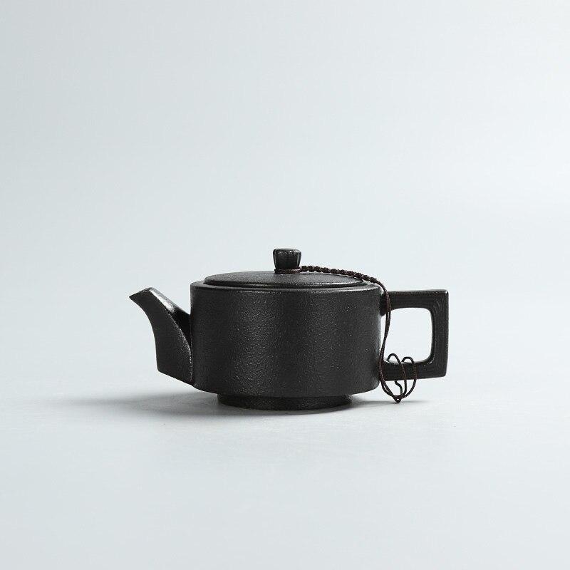Kreative schwarze Keramik Teekannen handgemachte Vintage Keramik - Küche, Essen und Bar - Foto 5