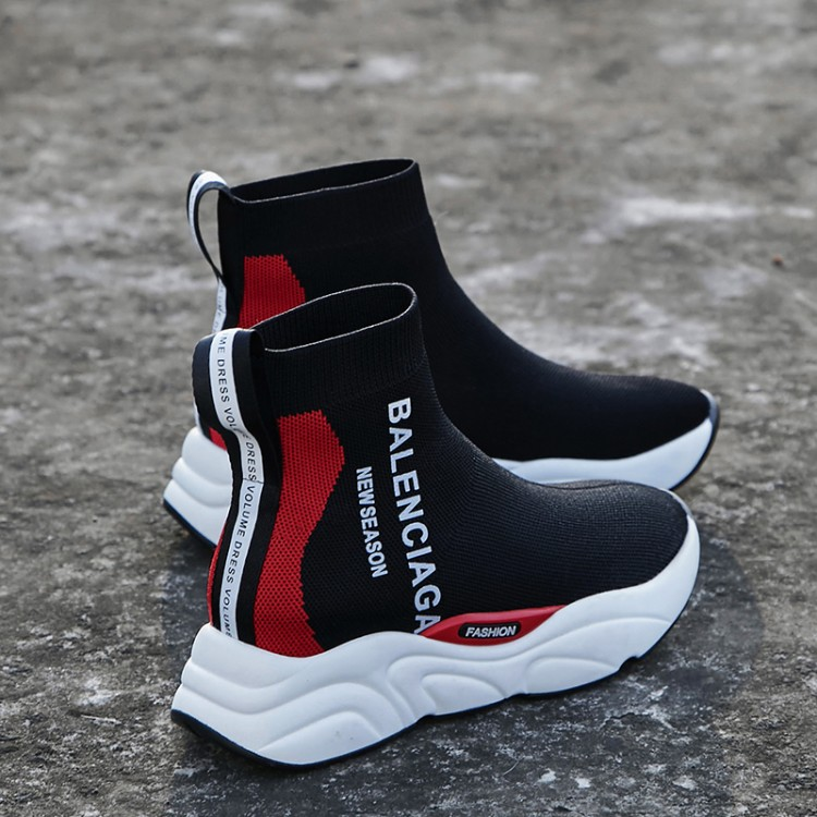 Plates Sport Hommes Chaussures De Et Élastique Blue Lettres Chaussures Imprimé Bas red Couples Femmes Bottes pR5WH7aqv