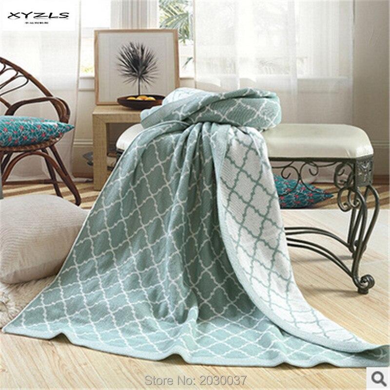 XYZLS Home Soft North Europe Lattice Pattern Blanket ...