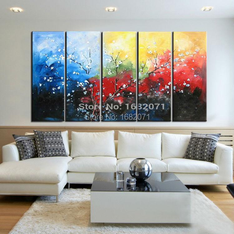 Картина на холсте, акриловая живопись, настенные художественные картины для гостиной, домашний декор, современный абстрактный цветок, квад... - 2