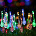 New Waterproof 20 LEDs 3.1M Drop LED String Light Outdoor Solar Garden Lamp with 4 Color For Christmas Wedding Party Decoration