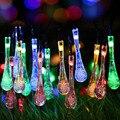 Nueva Prueba de Agua 20 LEDs 3.1 M Gota LED Cadena de Luz Al Aire Libre Lámpara Solar Del Jardín con 4 Colores Para El Banquete de Boda decoración