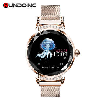 Rundoing H2 Smart watch Waterproof Women ladies fashion Smartwatch Heart rate monitor Fitness Tracker For android and IOS - DISCOUNT ITEM  50% OFF All Category