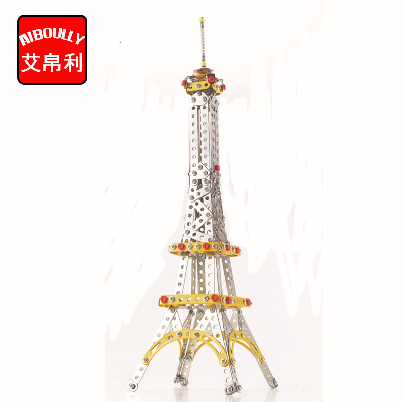 447pcs Eiffel Tower Metal Construct Fantastic Model 3D Assembled Recovery Vehicle of Lift Truck Car DIY Toys With Tool