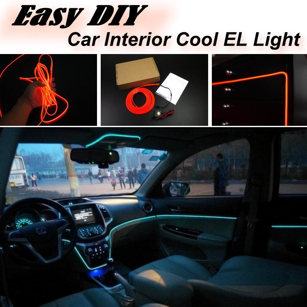 Car Atmosphere Light Flexible Neon Light EL Wire Interior Light ...