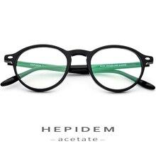 Ацетатные очки, оправа для мужчин и женщин, круглые очки по рецепту, Ретро стиль, круг, близорукость, оптические оправы, очки, очки ботаника