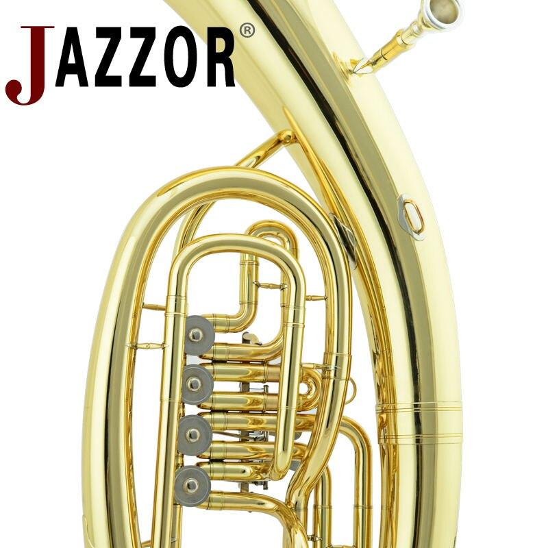 JAZZOR JZEU-310 Профессиональный euphonium B плоский золотой лак четыре плоских ключа латунный духовой инструмент с мундштуком и чехол