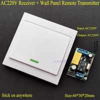 Interruptor de Control remoto inalámbrico AC 220V receptor Panel de pared transmisor remoto salón dormitorio luces de techo lámparas de pared inalámbrico TX
