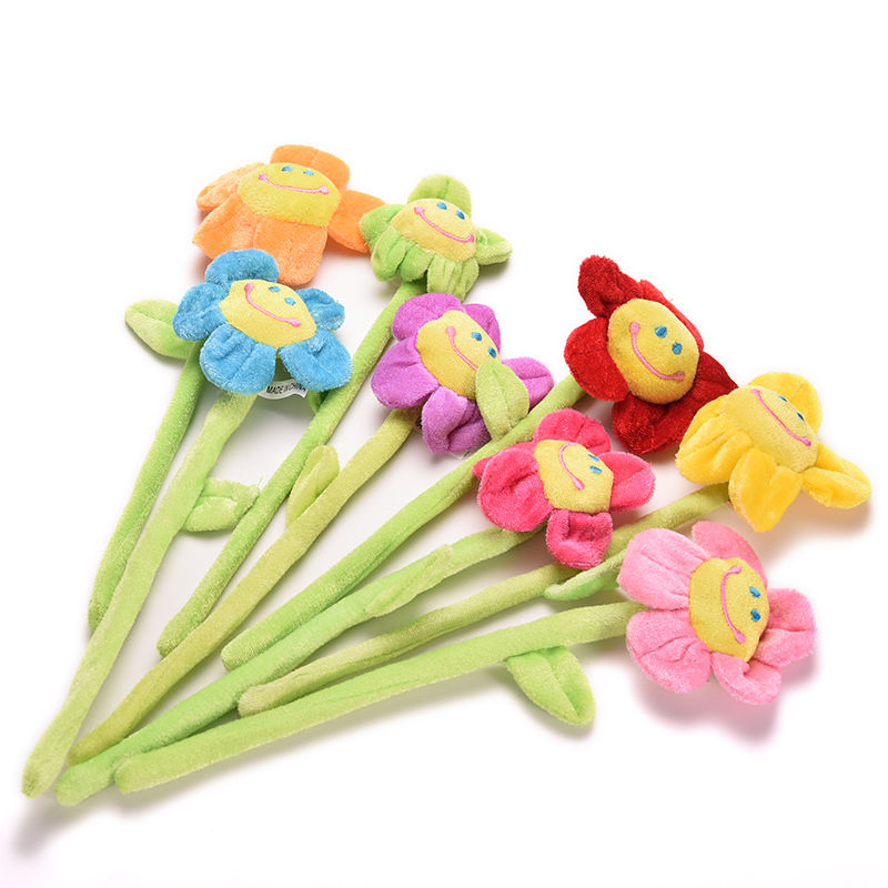 Cartoon-Curtain-Clip-Sunflower-Plush-Flexible-Tieback-Toy-Home-Dcor-Lovely-Girls-Gift-2