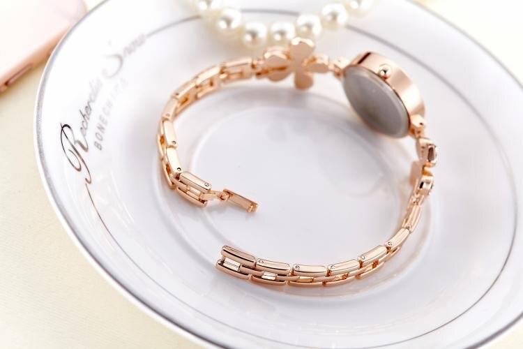 Armbanduhren Rose weiblichen Luxus 16