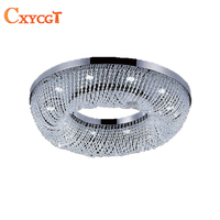 LED Lustre Crystal Chandelier Luxury Round Chandelier Light Modern Lighting For Shop Hotel Home Decoration AC