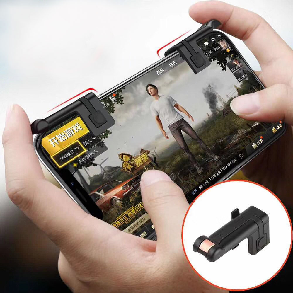 1 Pair Gaming Trigger Fire Button Aim Key for Smart Phone Touch Screen Games L1R1 Shooter Controller for PUBG/Rules of Survival