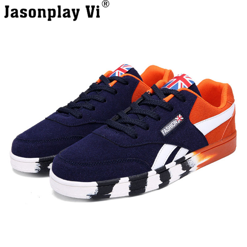 Jasonplay Vi & 2016 New Fashion Brand Men Shoes Breathable Zapatos Flat Tenis Shoes Men Trainers WALKING Casual Shoes men WZ308 jasonplay vi