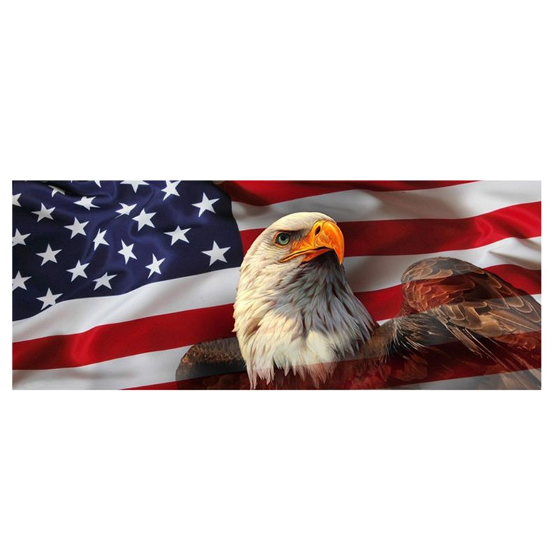 """UNITED WE STAND Eagle /& Flag Window Glass Sticker Decal 4/"""" x 6/"""""""