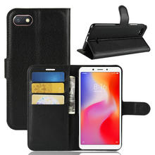 "for Xiaomi Redmi 6A Wallet Phone Case for Xiaomi Redmi 6A 6 A 2GB 16GB 3GB 32GB 5.45"" Flip Leather Cover Case Etui Fundas>(China)"